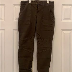 Army green 7 for all mankind jeans